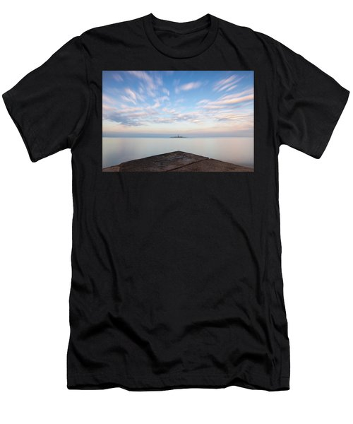 Men's T-Shirt (Athletic Fit) featuring the photograph Islet Baraban With Lighthouse by Davor Zerjav
