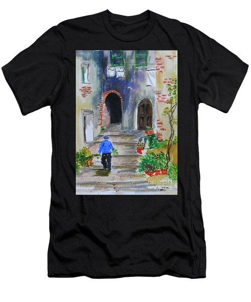 Italian Alleyway Men's T-Shirt (Athletic Fit)
