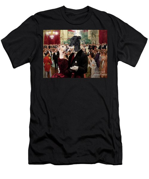 Italian Greyhound Art Canvas Print - Beautiful City Dance Hall Vienna Wilhelm Gause Men's T-Shirt (Athletic Fit)
