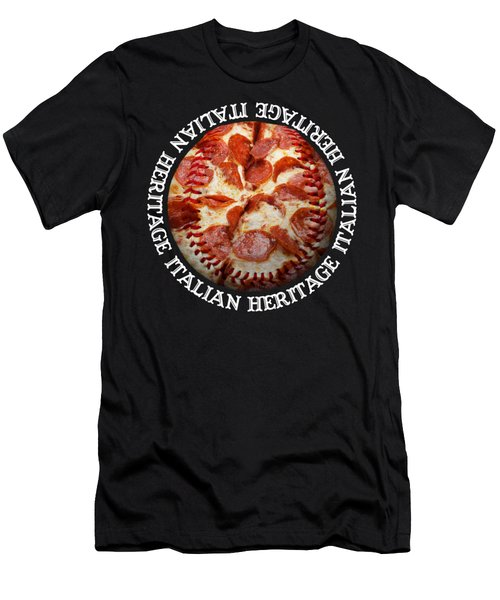 Italian Heritage Baseball Pizza Square Men's T-Shirt (Athletic Fit)