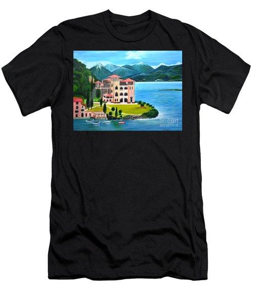 Italian Landscape-casino Royale Men's T-Shirt (Athletic Fit)