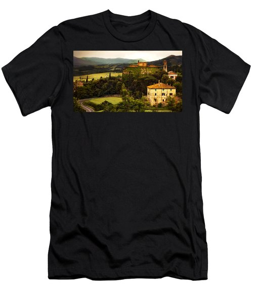 Italian Castle And Landscape Men's T-Shirt (Slim Fit) by Marilyn Hunt