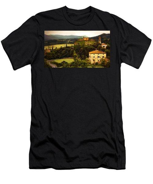 Italian Castle And Landscape Men's T-Shirt (Athletic Fit)