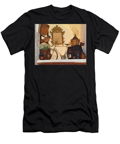 Men's T-Shirt (Athletic Fit) featuring the photograph Italian Osteria by Frank Stallone