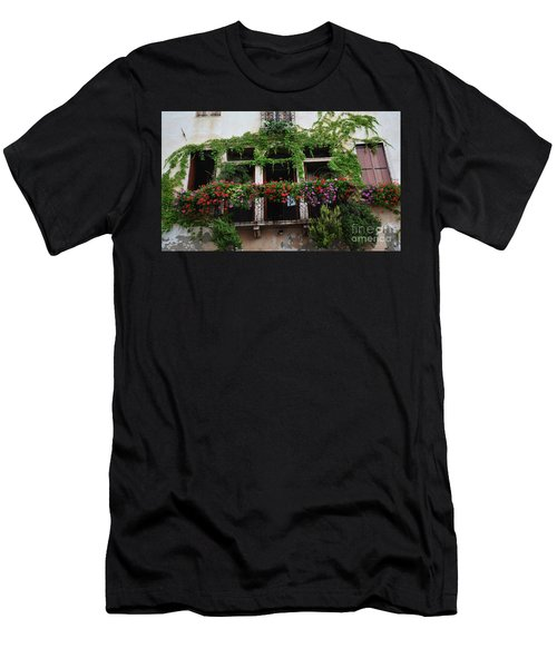 Men's T-Shirt (Athletic Fit) featuring the photograph Italy Veneto Marostica Main Square by Frank Stallone
