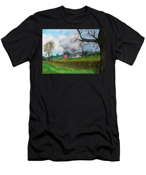 It's All Uphill To Scotland Men's T-Shirt (Athletic Fit)