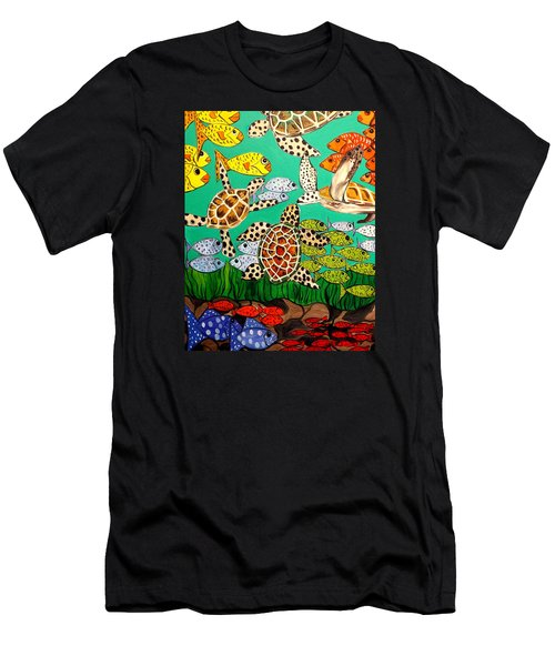 It's Turtle Time Men's T-Shirt (Slim Fit) by Lisa Aerts