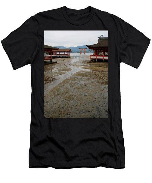 Itsukushima Shrine And Torii Gate Men's T-Shirt (Athletic Fit)