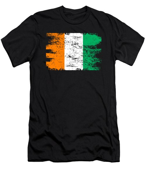 Ivory Coast Shirt Gift Country Flag Patriotic Travel Africa Light Men's T-Shirt (Athletic Fit)