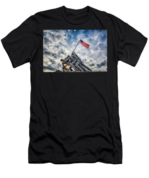 Iwo Jima Memorial Men's T-Shirt (Athletic Fit)