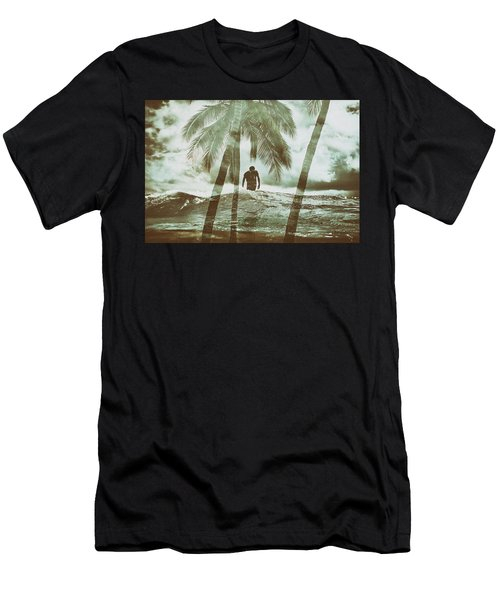 Izzy Jive And Palms Men's T-Shirt (Athletic Fit)