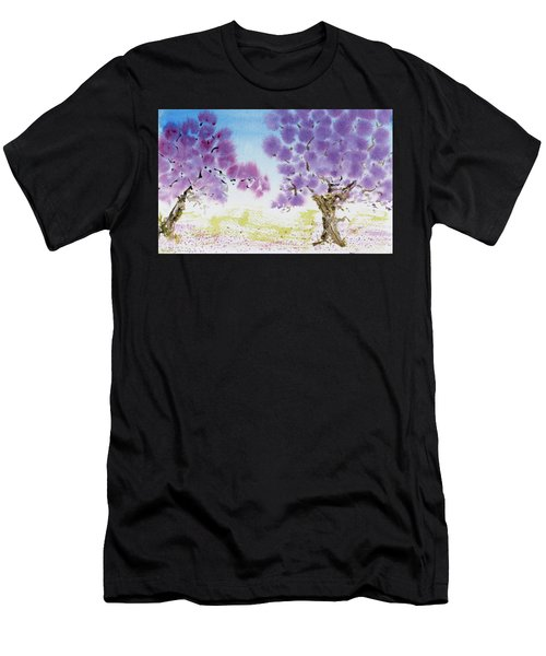 Jacaranda Trees Blooming In Buenos Aires, Argentina Men's T-Shirt (Athletic Fit)