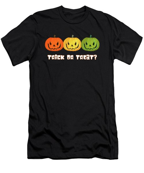 Men's T-Shirt (Slim Fit) featuring the digital art Jack-o-lanterns by Methune Hively