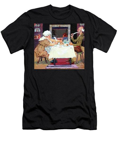 Jack Sprat Vintage Mother Goose Nursery Rhyme Men's T-Shirt (Slim Fit) by Marian Cates