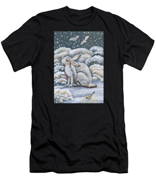 Jackrabbit And Horned Larks Men's T-Shirt (Athletic Fit)