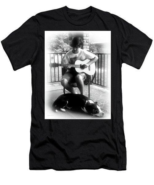 Jackson Bw Men's T-Shirt (Slim Fit) by Patricia L Davidson