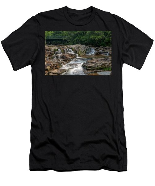 Men's T-Shirt (Athletic Fit) featuring the photograph Jackson Falls by Cindy Lark Hartman