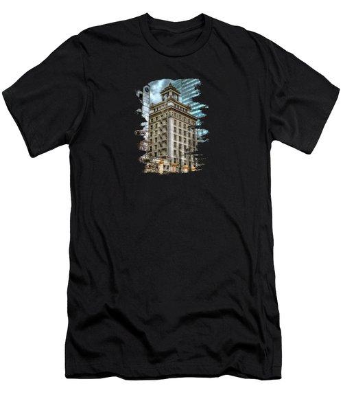 Jackson Tower Portland Oregon Men's T-Shirt (Slim Fit) by Thom Zehrfeld