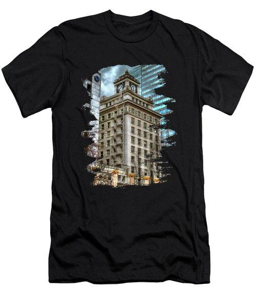Jackson Tower Portland Oregon Men's T-Shirt (Athletic Fit)