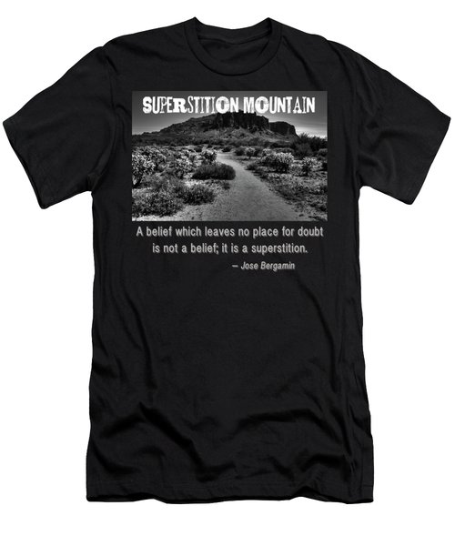 Jacobs Crosscut Trail In The Superstition Wilderness Men's T-Shirt (Athletic Fit)