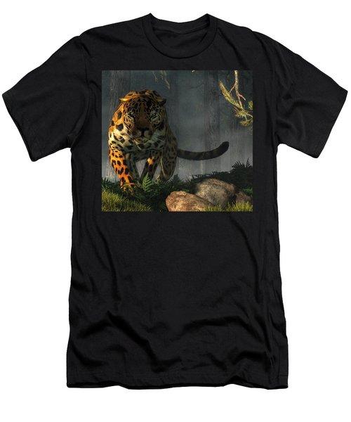 Men's T-Shirt (Athletic Fit) featuring the digital art Jaguar by Daniel Eskridge
