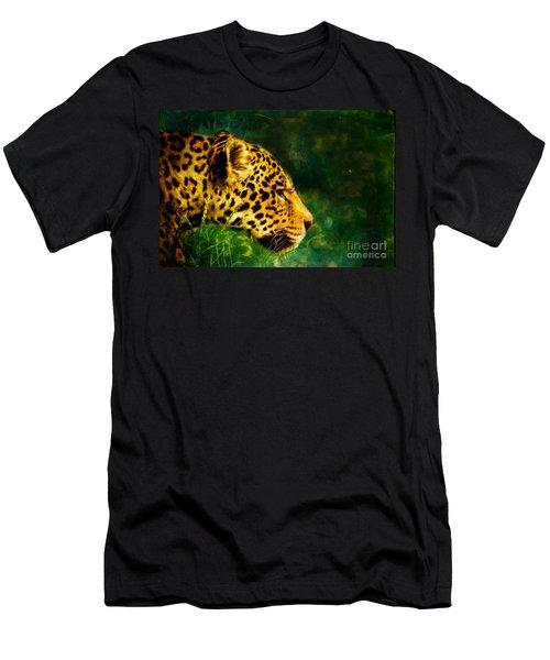 Jaguar In The Grass Men's T-Shirt (Athletic Fit)