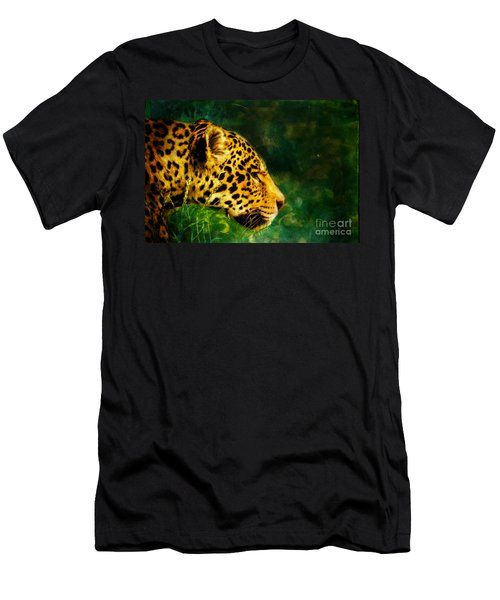 Jaguar In The Grass Men's T-Shirt (Athletic Fit)