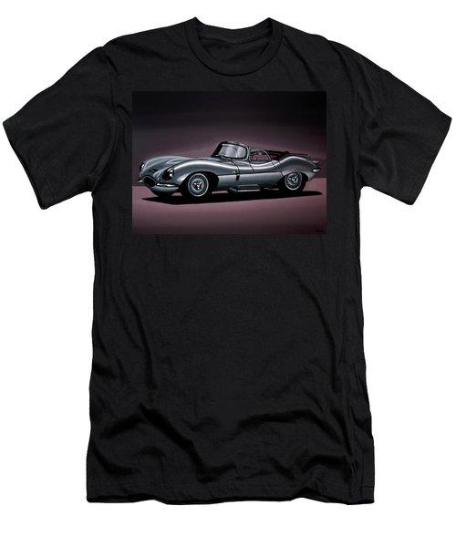 Jaguar Xkss 1957 Painting Men's T-Shirt (Athletic Fit)