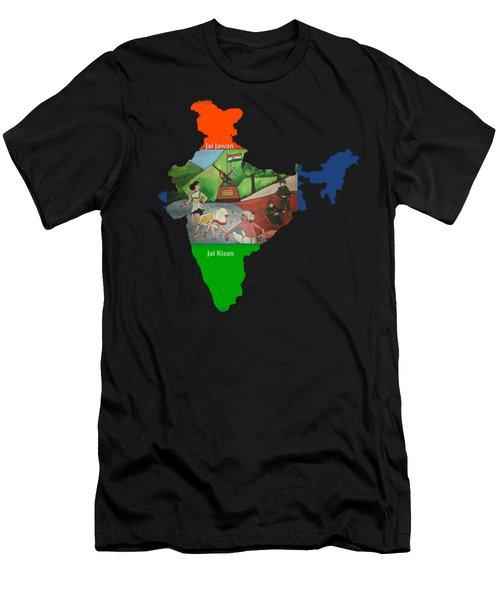 Jai Jawan Jai Kisan Men's T-Shirt (Athletic Fit)