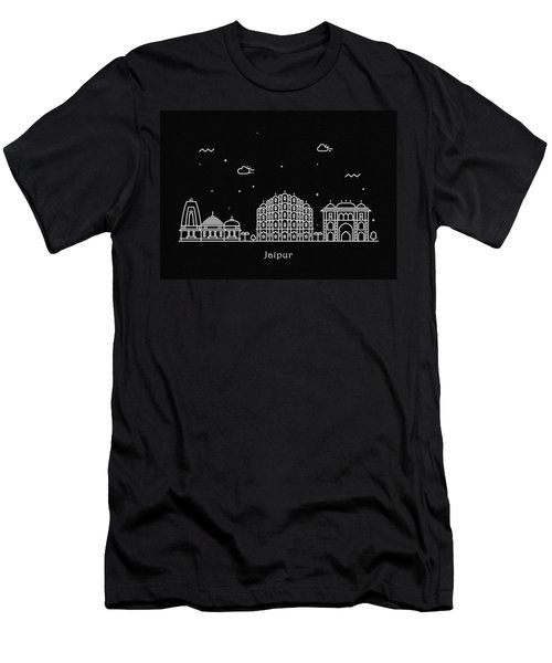 Jaipur Skyline Travel Poster Men's T-Shirt (Athletic Fit)