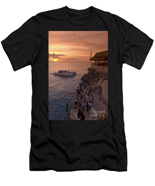 Men's T-Shirt (Athletic Fit) featuring the photograph Jamaica Negril Ricks Cafe by Juergen Held