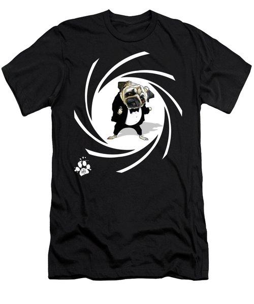 James Bond Pug Caricature Art Print Men's T-Shirt (Athletic Fit)