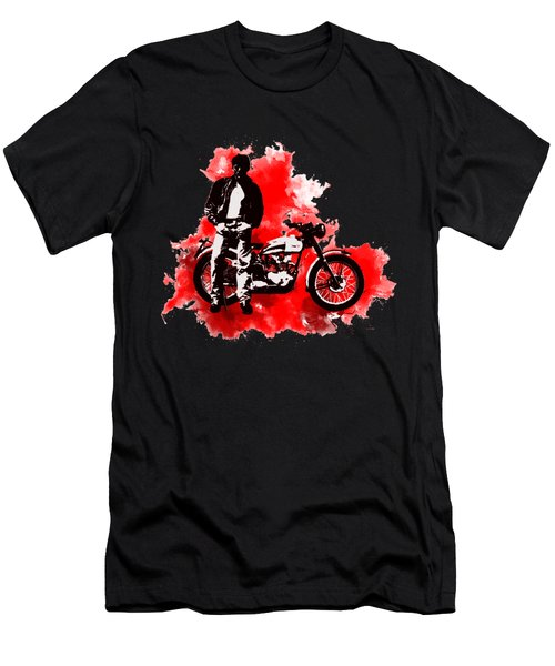 James Dean And Triumph Men's T-Shirt (Slim Fit)