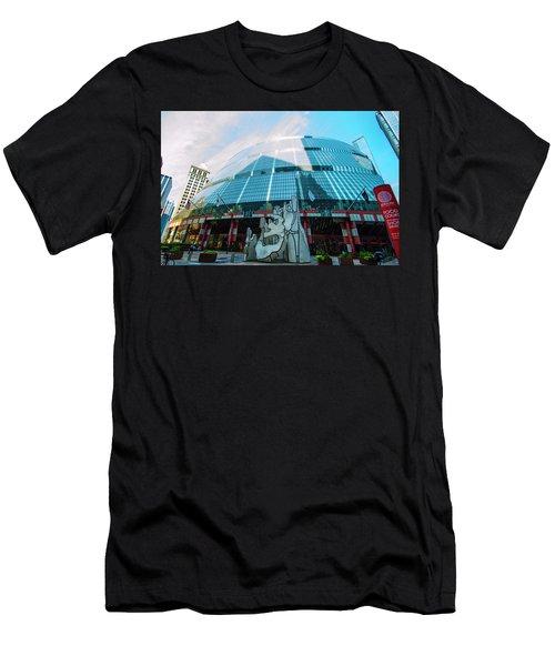 Men's T-Shirt (Slim Fit) featuring the photograph James R. Thompson Center Chicago by Deborah Smolinske
