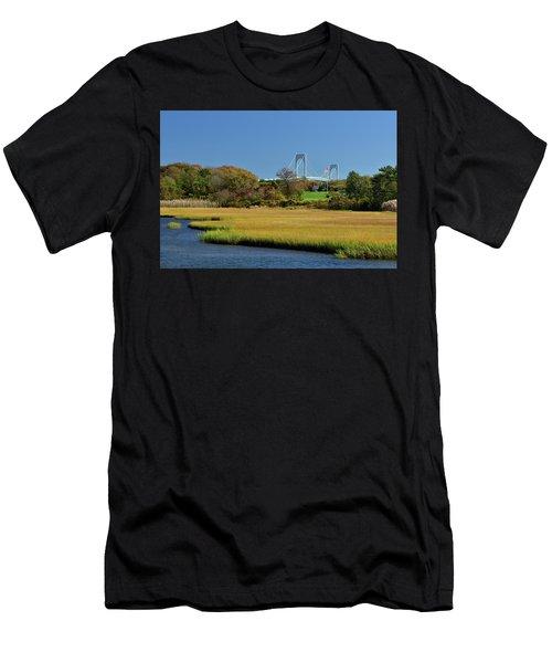 Jamestown Marsh With Pell Bridge Men's T-Shirt (Athletic Fit)
