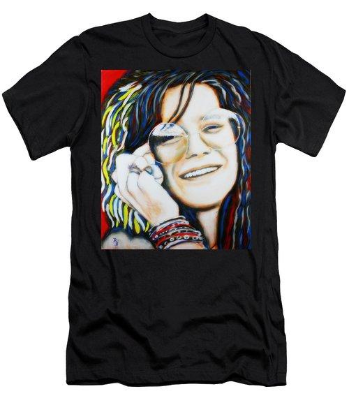 Janis Joplin Pop Art Portrait Men's T-Shirt (Athletic Fit)