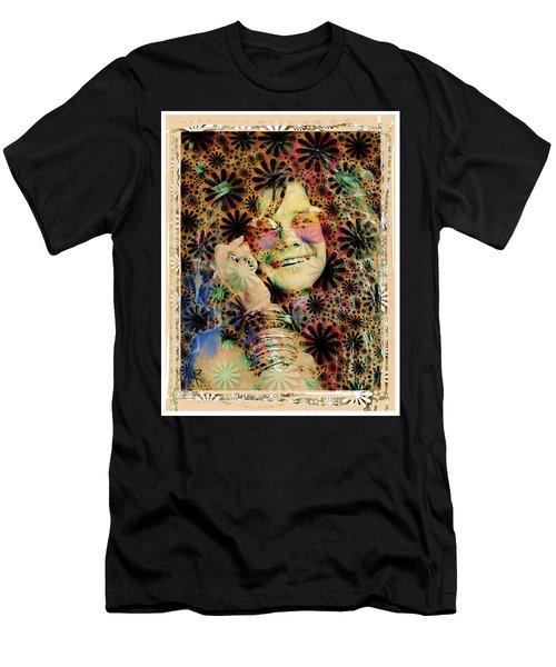 Janis Joplin Men's T-Shirt (Athletic Fit)
