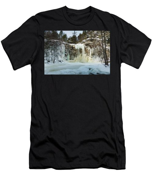 January Morning At Awosting Falls Men's T-Shirt (Athletic Fit)