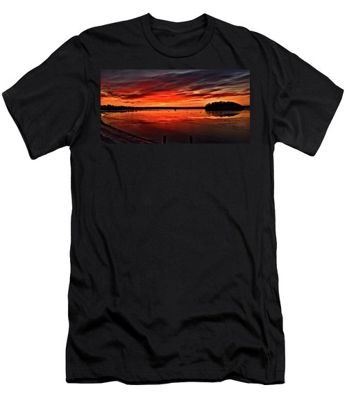 January Sunrise Onset Pier Men's T-Shirt (Athletic Fit)