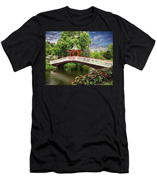 Japanese Bridge Garden Men's T-Shirt (Athletic Fit)