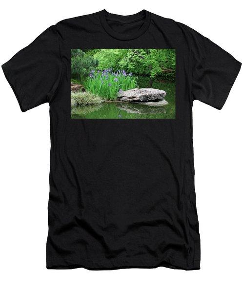 Japanese Gardens - Spring 02 Men's T-Shirt (Slim Fit) by Pamela Critchlow