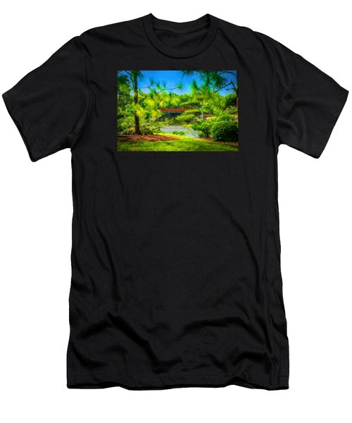 Japanese Gardens  Men's T-Shirt (Slim Fit) by Louis Ferreira