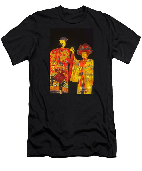 Japanese Lanterns King And His Dancers Men's T-Shirt (Athletic Fit)