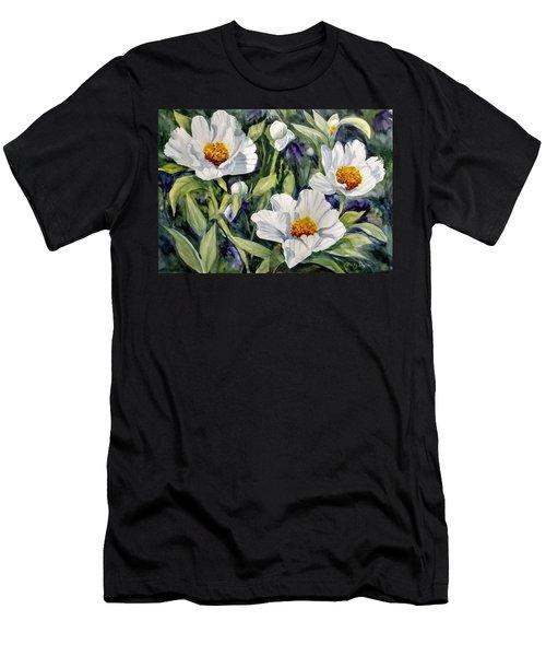 Japanese Peonies Men's T-Shirt (Athletic Fit)