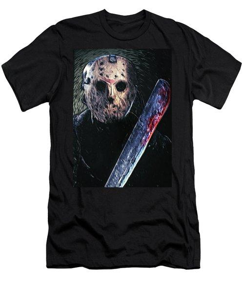 Jason Voorhees Men's T-Shirt (Slim Fit) by Taylan Apukovska