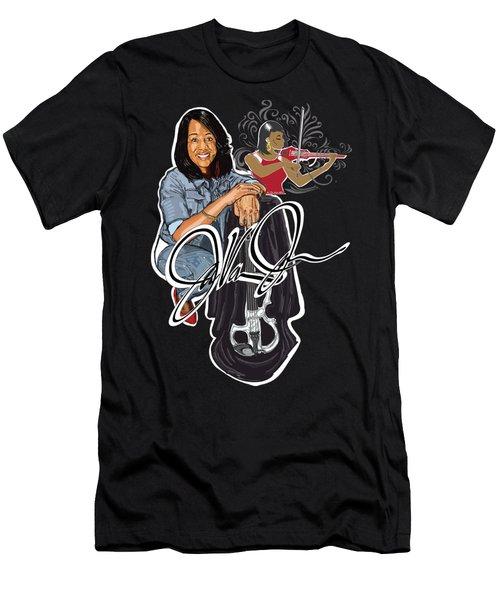 Javonne The Violinist Men's T-Shirt (Athletic Fit)