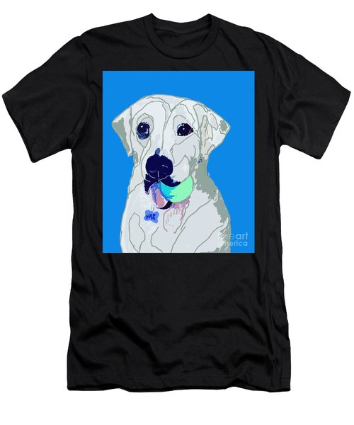 Jax With Ball In Blue Men's T-Shirt (Athletic Fit)