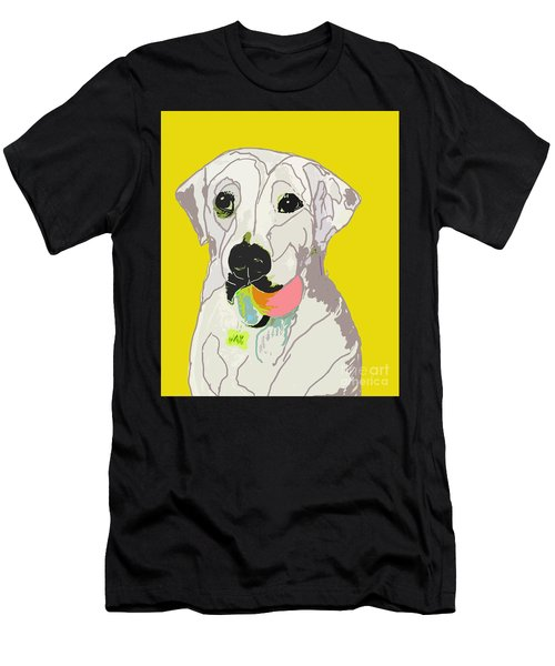 Jax With Ball In Yellow Men's T-Shirt (Athletic Fit)