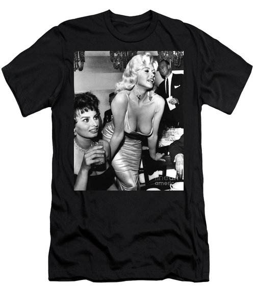 Jayne Mansfield Hollywood Actress And, Italian Actress Sophia Loren 1957 Men's T-Shirt (Athletic Fit)