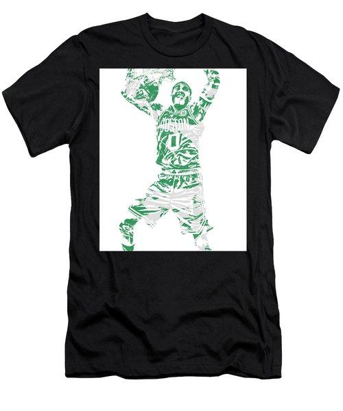 Jayson Tatum Boston Celtics Pixel Art 11 Men's T-Shirt (Athletic Fit)